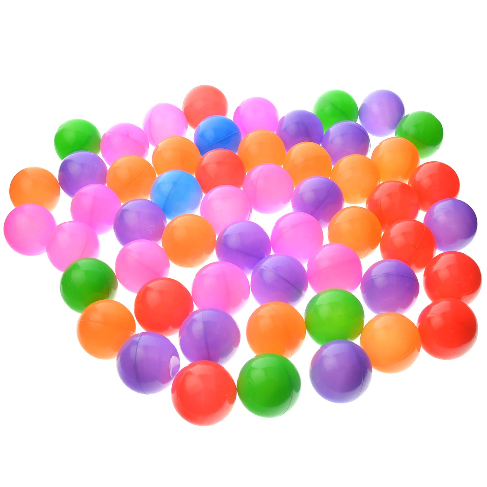 toyofmine Ocean Balls Baby Kid Swim Pit Toy Colorful Soft Plastic Bulk Pack (500 pcs) by toyofmine (Image #1)