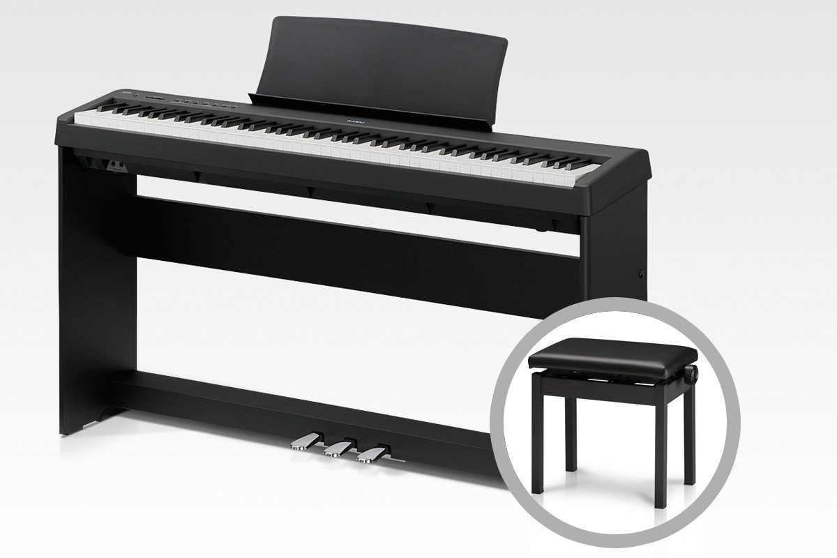 KAWAI カワイ / ES110B ブラック【オプションセット】スタイリッシュピアノ【全国組立設置無料】【代引き不可】   B07FXVFVYZ