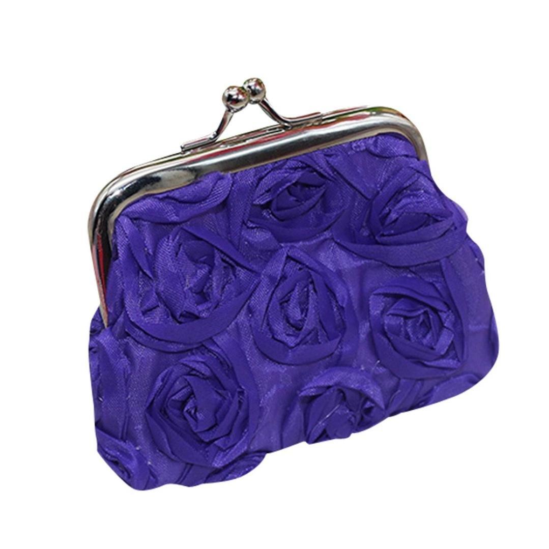 Start Womens Rose Flower Small Wallet Coin Purse Clutch Handbag Bag
