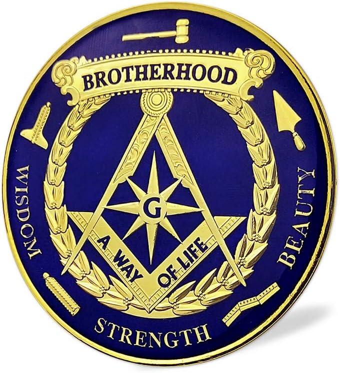 Masonic Brotherhood Metal Car Emblem Mason Accessories