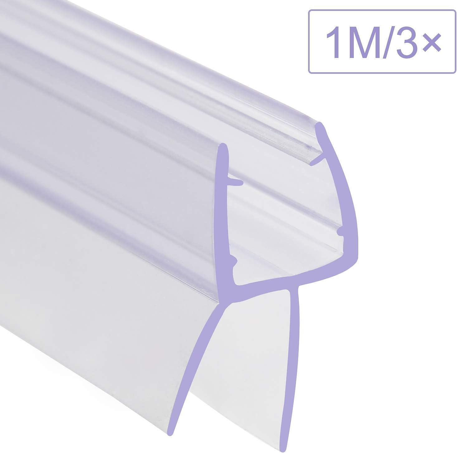 Junta para ducha 1 m, para vidrio de 6 mm, 7 mm, 8 mm de grosor