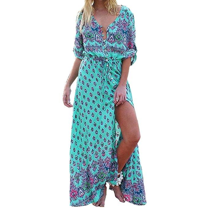 Vestidos largos estampados en amazon