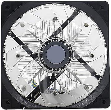 Guajave CPU Ventilador Del Radiador LED 12CM Silencioso Escritorio ...