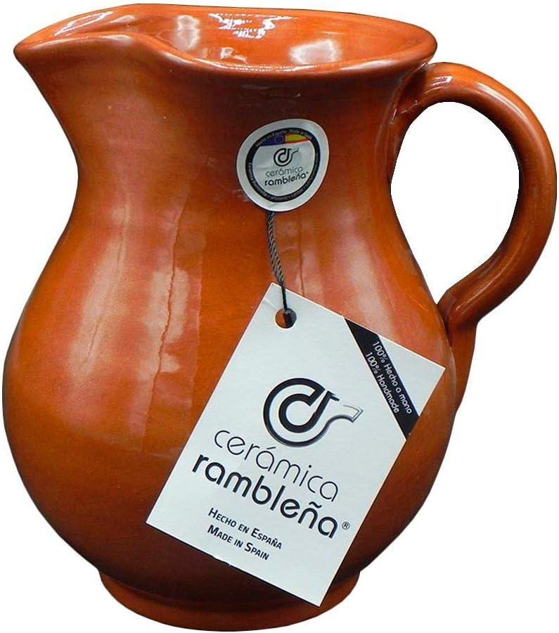 Jarras de Barro Rojo 1.5 litros CER/ÁMICA RAMBLE/ÑA 100/% Hecho a Mano Jarra de Cerveza Jarra de Agua