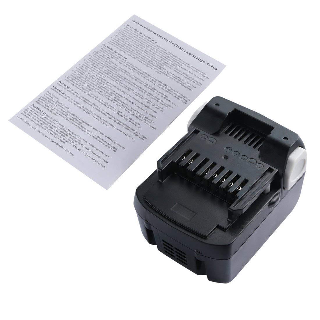 vbncvbfghfgh Negro PC 14.4V Bater/ía de herramienta el/éctrica de repuesto de iones de litio para la serie de herramientas HITACHI ABS Estuche Ligero 4000mah 18V