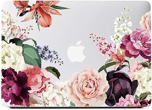 Vintage Flower Case MacBook Pro 13 Case 2018 /& 2017 Plastic Hard Shell Cover