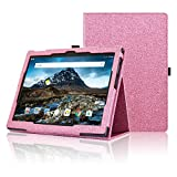 Lenovo Tab 4 10.1 Case, ACdream Premium PU Folio Leather Tablet Case for Lenovo Tab4 10.1 tablet(2017 version) with Auto Wake Sleep Feature, Light Pink Star of Paris