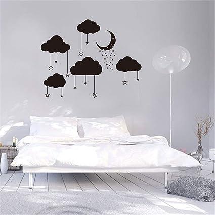 Sticker Diy La Lune Nuage Autocollants Amovible Mur Papier