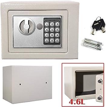 Caja de Seguridad electrónica de Acero Digital de 4,6 l, Alta Seguridad, para casa, Oficina, Dinero, 23 x 17 x 17 cm: Amazon.es: Bricolaje y herramientas