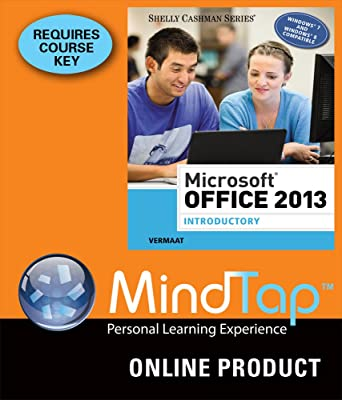 MindTap Computing For Vermaats Microsoft Office 2013 Introductory 1st Edition