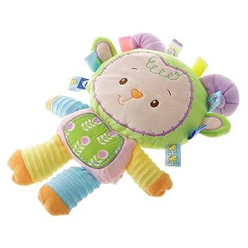Juguetes Infantiles de Peluche Cascabeles BB Dispositivo Muñeca para Apaciguar a los Niños - Cordero