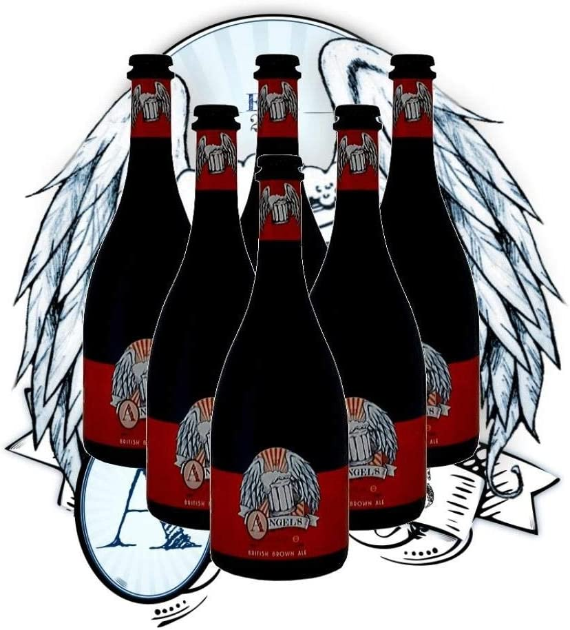 Cervezas Artesanas Latarce | Cervezas Angel's By Latarce | Caja 6 Cervezas Artesanas British Brown Ale | Formato Botellas 75 cl | Ideal para regalo | Cerveza Artesana | Cervezas Artesanas
