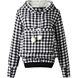 Pet Pouch Hoodie - Cat Dog Holder Sweatshirt Large Pocket Carrier Pullover Tops for Women