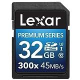 Lexar Platinum II 300x 32 GB  SDHC  U1 Memory Card -  LSD32GBBEU300