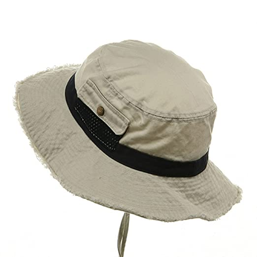 4f3e8fd4bec Washed Frayed Bucket Hats-Putty Navy M at Amazon Men s Clothing store