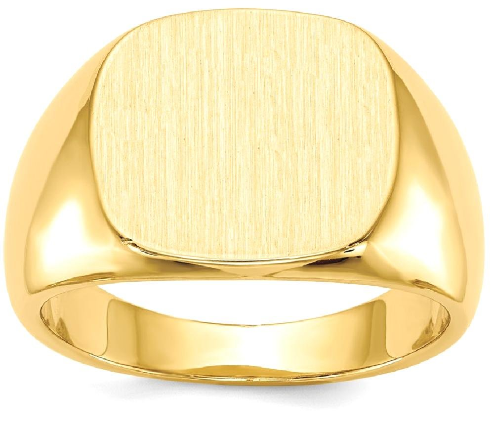 ICE CARATS 14k Yellow Gold Mens Signet Band Ring Size 10.00 Man Fine Jewelry Dad Mens Gift Set