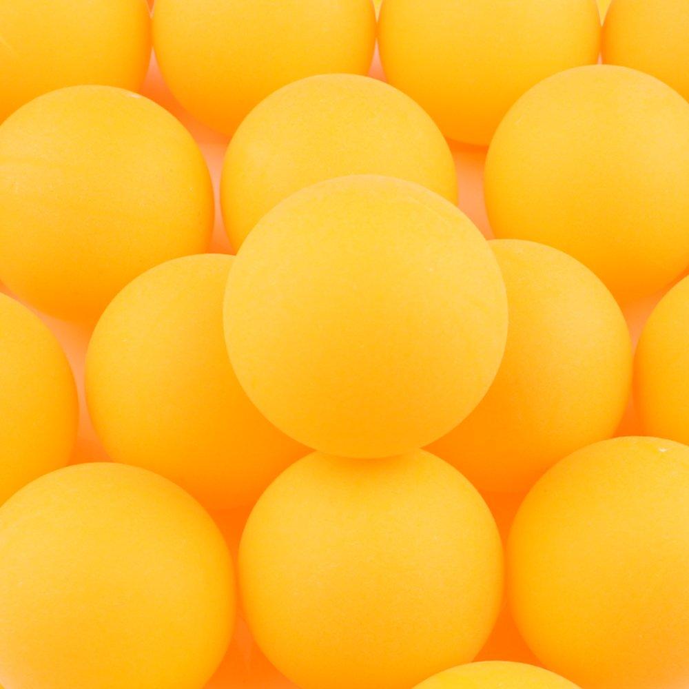 150Stück TISCH Tennisbälle Kunststoff Ping Pong Bälle 40mm für Amateur-Entertainment, Tischtennis Training, Erwachsene & Kinder Spiele (gelb) AngXiong