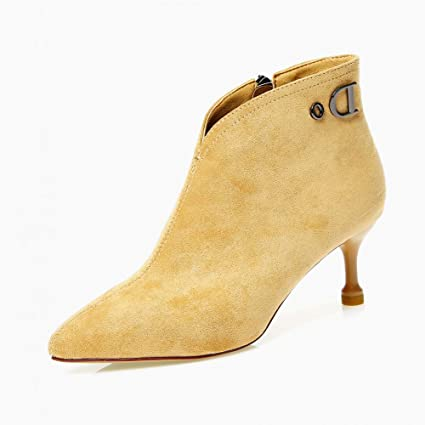6e8feed2361ab Amazon.com: HYLIUGG High Heels 6CM Shoes with Women's Autumn and ...