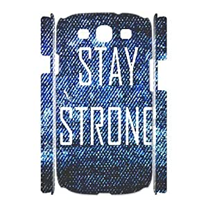 Custom New Case for Samsung Galaxy S3 I9300 3D, Stay Strong Phone Case - HL-R655938