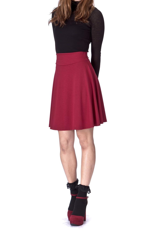 Dani's Choice Multi-Style High Waist A-line Flared Skater Mini Skirt SN16-0829-010