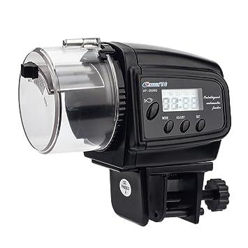 NICREW Alimentador Peces Automático, Dispensador de Comida Acuario, Alimentador Automático de Peces para Acuario con LCD Pantalla e Temporizador ...