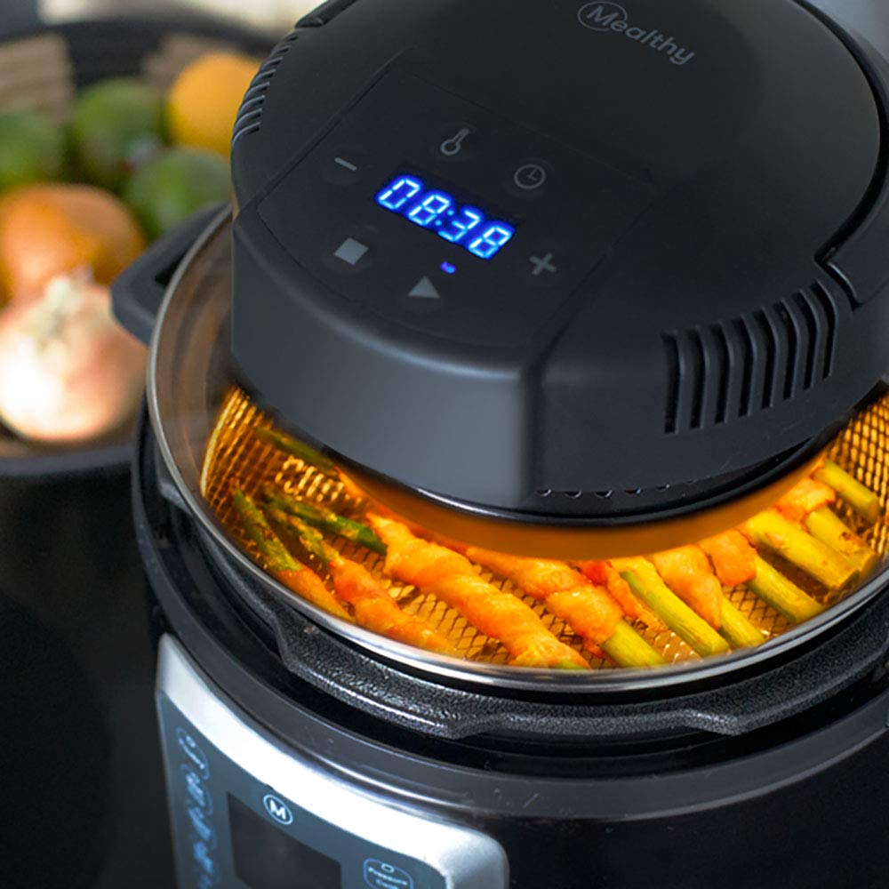Mealthy CrispLid for Pressure Cooker - Turns your Pressure Cooker into an Air Fryer - Air fry, Crisp or Broil fits 6 & 8 Quart. Comes with Basket, Trivet, Silicone Mat, and Tongs plus Free Recipe App by Mealthy (Image #4)