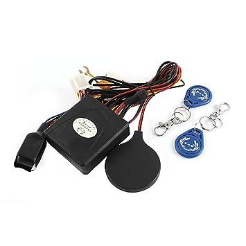 sourcingmap Sistema de Alarma Antirrobo Cerradura Motocicleta Tarjeta Ic Inducción Inmovilizador Invisible