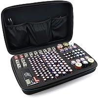 Esimen Battery Storage Case Organizer Portable Battery Storage Battery Storage Containers Holder for Tester - Holds 146 Batteries AA AAA C D 9V Linthium3V + 1 BT-168 Tester 3 Interior Pockets (Black)