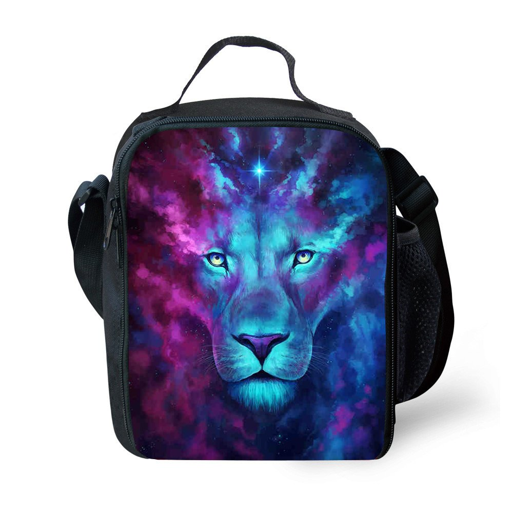 Animals Lion Print Kids Lunch Boxes Outdoor Children's Lunch Bag (YHJ-1)