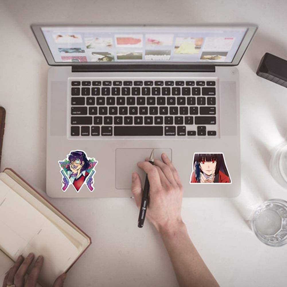 50pcs qnVCWuv Jabami Yumeko Adesivi Anime Adesivi per Laptop Acqua Bottiglie Bagaglio Telefono Notebook Skateboard Computer Calcomanie 50pcs Kakegurui Auto Adesivi