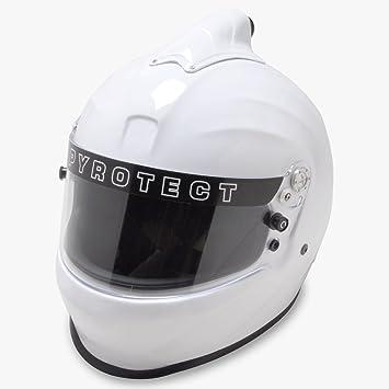 pyrotect Prosport Duckbill parte superior Full Face casco de aire forzado sa2015 blanco auto coche Kart