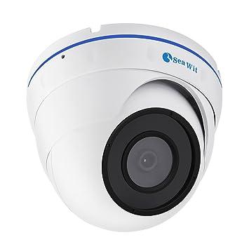 Sea Wit Cámara de Seguridad 1080P Full HD Cámara IP vigilancia domo interior con visión nocturna