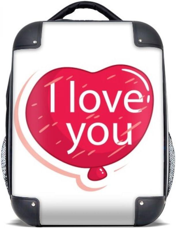 DIYthinker Hombro Amor Día rosa I Globo del estuche rígido de San Valentín Llevar niños Mochila 15