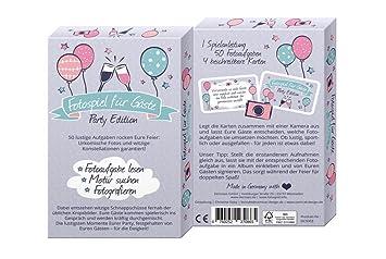Fotospiel Party Edition Kartenbox Mit 50 Kreativen Fotoaufgaben