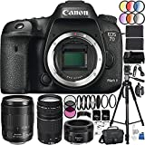 Canon EOS 7D Mark II Camera 39PC Kit - International Version (No Warranty) w/Canon EF-S 18-135mm f/3.5-5.6 IS USM Lens, Canon EF 75-300mm f/4-5.6 III Lens, Canon EF 50mm f/1.8 STM Lens, MORE
