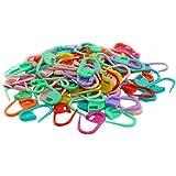 100pcs Knitting Mix Color Craft Crochet Locking Stitch Needle Clip