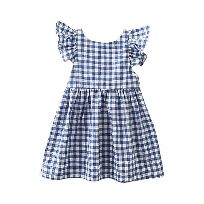 MAYOGO Vestido Bebe Niña 12 Meses Verano sin Manga Vestido ...