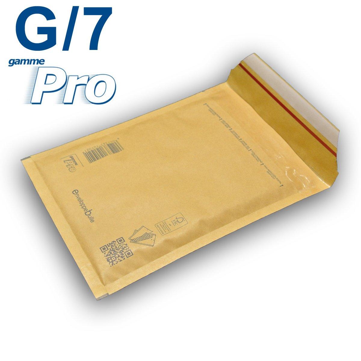 Lot de 10 enveloppes à bulles *MARRON* gamme PRO G/7 format 230x335mm enveloppebulle G/7 gamme PRO