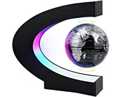 MOKOQI Magnetic Levitating Globe with LED Light, Cool Tech Gift for Men Father Boys, Birthday Gifts for Kids, Floating Globes