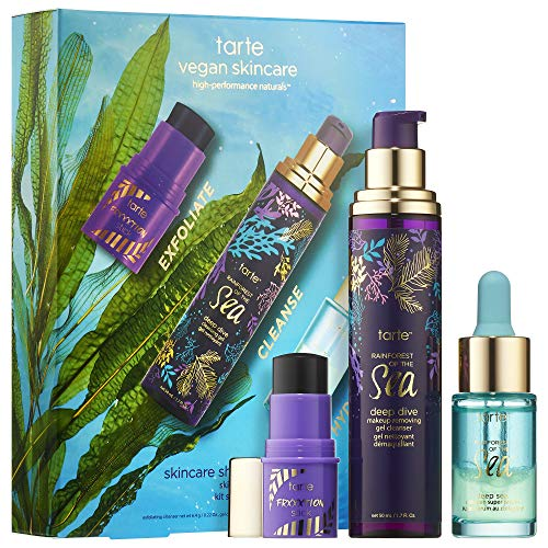 Skincare Shelfie Sea-CretsSet! Includes Face Serum, Makeup Remover & Exfoliating Cleanser! Skincare Powerhouse Trio Packed With Marine Plant Extracts! Help Restore Your Skin Radiance And Suppleness!