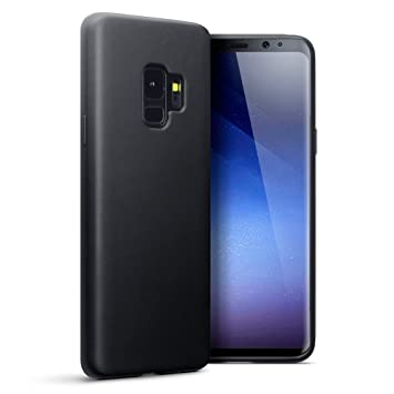 pretty nice 44890 982f8 TERRAPIN, Compatible with Samsung S9 Case, TPU Gel Cover - Solid Black  Matte Finish