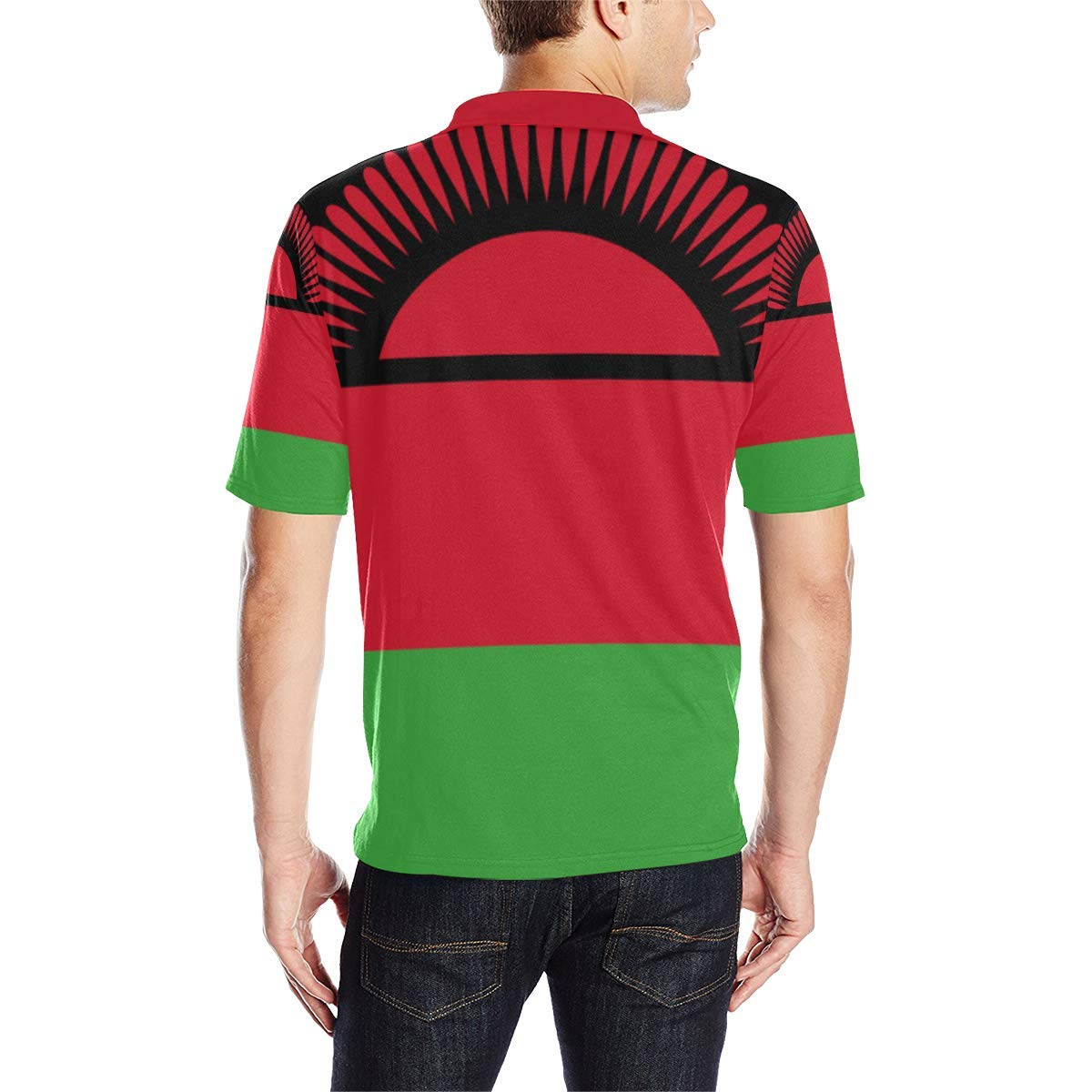 Lumos3DPrint Malawi Flag Mens Polo Shirt