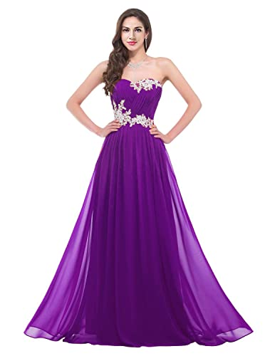 CaliaDress Women Long Applique Evening Bridesmaid Dresses Prom Gowns C001LF