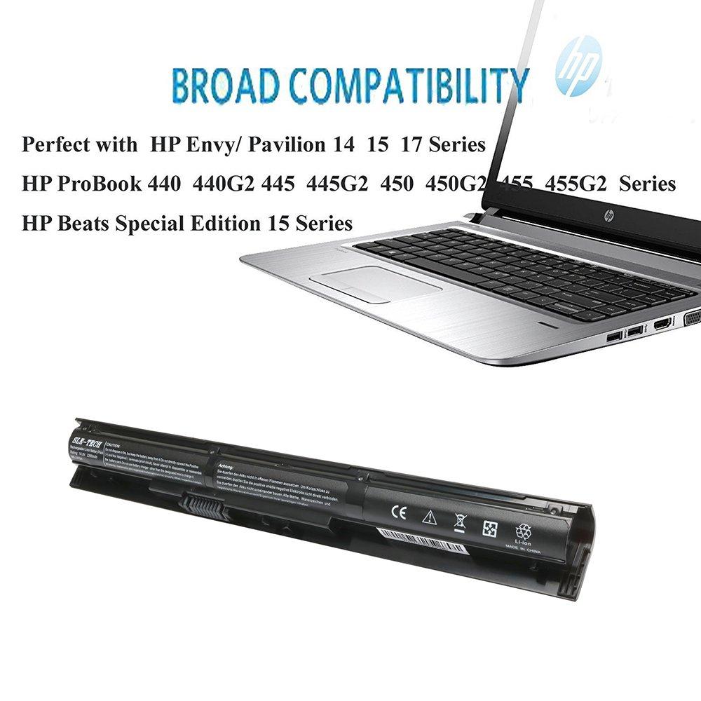 New VI04 Battery for HP ProBook 440 G2 450 G2 Q140 Q141 Q142 Q143 HP Envy 14 15 17 Series 14-v000-v099 15-k000-k099 17-f000-f099,fit 756743-001 756745-001 756479-421 HSTNN-DB6K HSTNN-LB6K by SLE-TECH® (Image #4)