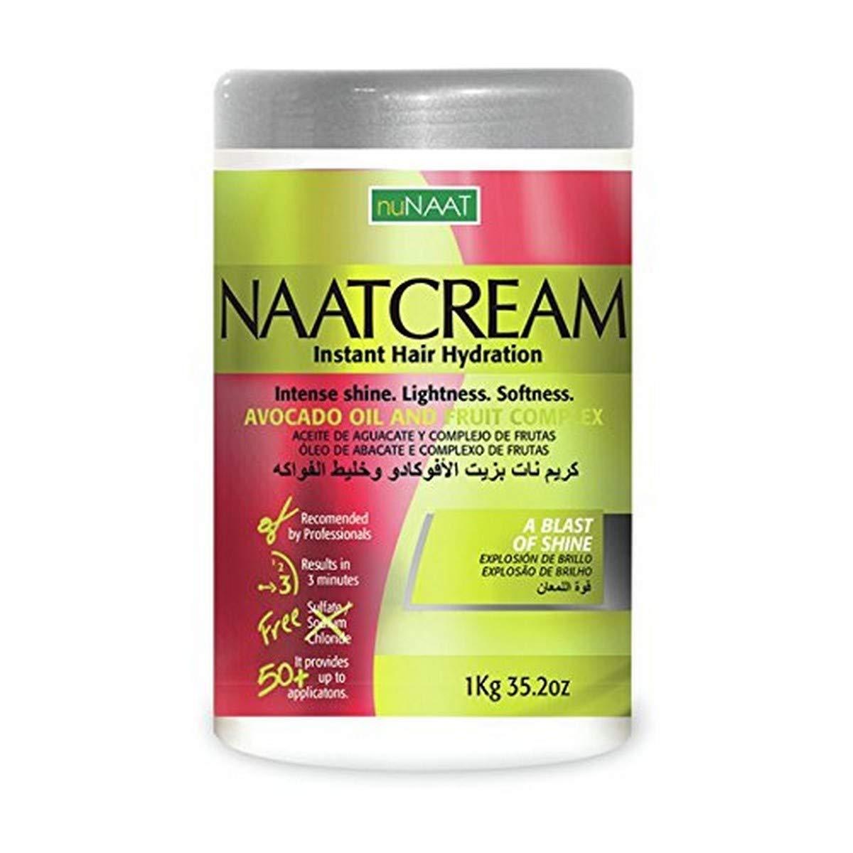 Nunaat Naat Avocado Oil Hair Cream and Fruit Complex, 35.2 Ounce