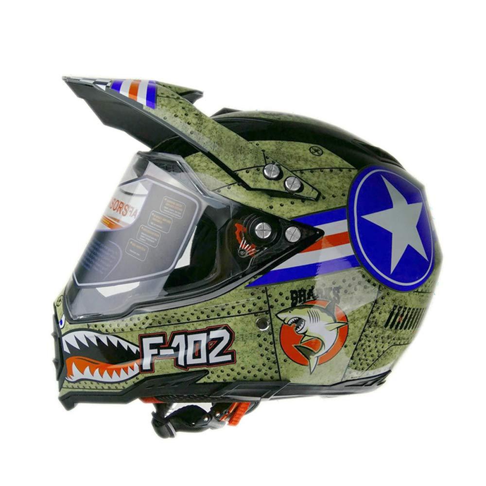 Woljay Dual Sport Off Road Motorcycle Motocross Helmet Dirt Bike ATV D.O.T Certified (S) 1