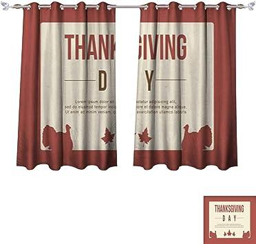 Cortinas opacas para recámara, día de Acción de Gracias, diseño de ...