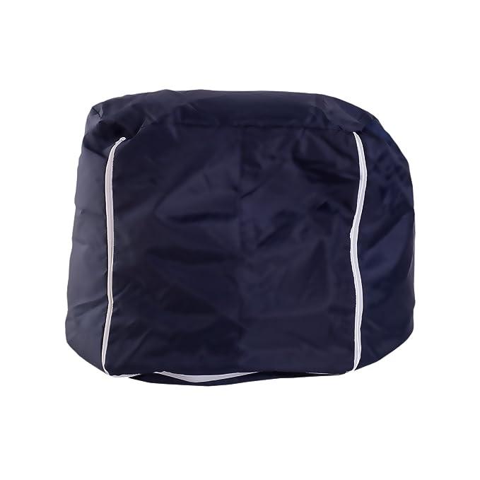 rebecca mobili Puff de pera Sillon Grande Silla Asiento Blu Pelota Casa Salon (Cod. RE4632)