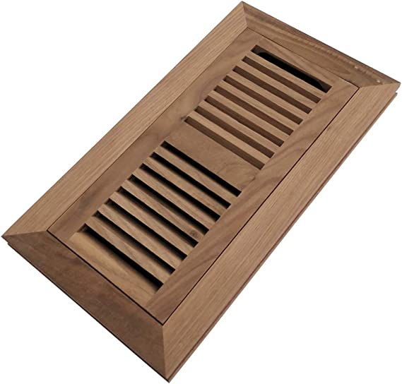 Homewell Walnut Wood Floor Register Flush Mount Floor Vent Cover 4x10 Inch With Damper Unfinished Amazon Co Uk Diy Tools