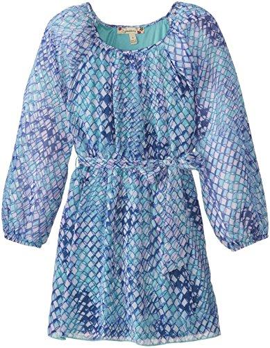 Speechless Big Girls' Long Sleeve Printed Blouson Dress